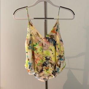 Neon floral camisole